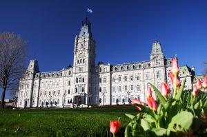 Quebec Parliament building (Htel du Parlement) in winter Quebec city.